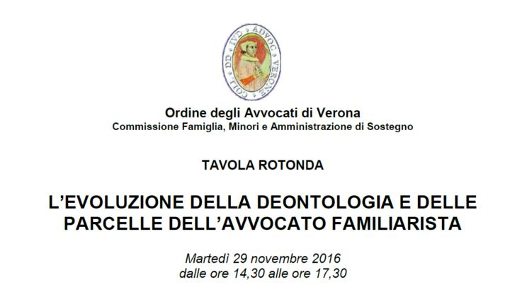 Federica Bedogni coordinatrice alla tavola rotonda organizzato dalla Commissione Famiglia, Minori e Amministrazione di Sostegno dell'Ordine degli Avvocati di Verona