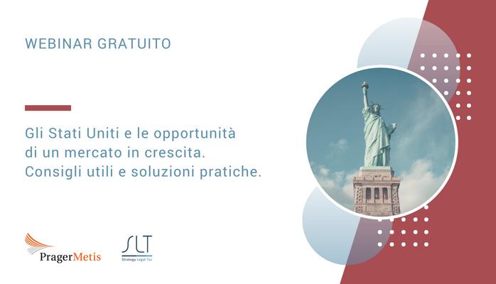 Webinar gratuito in lingua italiana sulle opportunità negli USA per le azienda italiane.