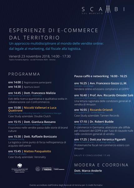 Esperienze di ecommerce dal territorio - Locandina evento a Verona